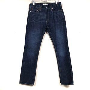 Gap dark wash men's slim jeans